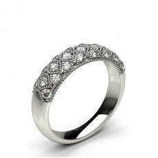 Pave Setting Round Diamond Fashion Ring - CLRN589_14