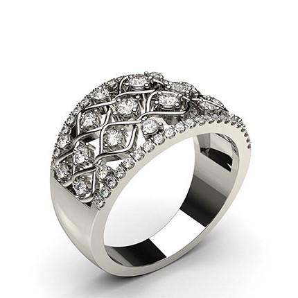 Moderner Diamantring Rund mit 4 Krappen