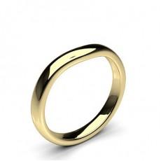 Yellow Gold Women's Shaped Wedding Bands Bands