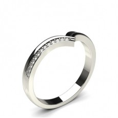 2.50mm Studded Slight Comfort Fit Diamond Shaped Band - CLRN590_10