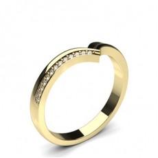 Alliance courbée confort diamant rond serti pavé 2.5mm - CLRN590_10