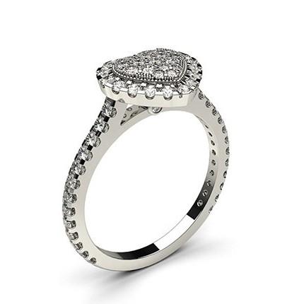 Runder Diamant Cluster Ring in einer Krappen und Zargen Fassung