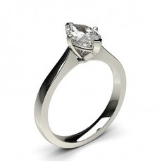 4 Prong Setting Plain Engagement Ring - CLRN597_01