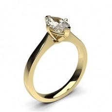 Bague de fiançailles solitaire diamant marquise serti 4 griffes - CLRN597_01