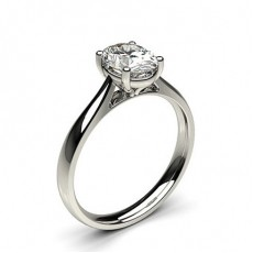 4 Prong Setting Plain Engagement Ring - CLRN598_01