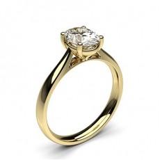 4 Prong Setting Plain Engagement Ring - CLRN598_01