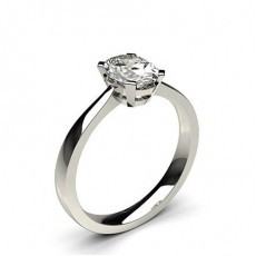 4 Prong Setting Plain Engagement Ring - CLRN599_01