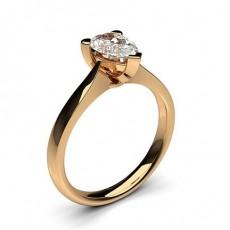 3 Prong Setting Plain Engagement Ring - CLRN600_01