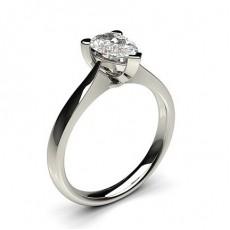 Bague de fiançailles solitaire diamant poire serti 3 griffes - CLRN600_01