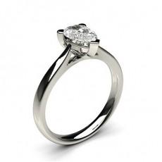 Bague de fiançailles solitaire diamant poire serti 3 griffes - CLRN601_01