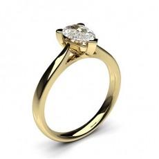 3 Prong Setting Plain Engagement Ring - CLRN601_01
