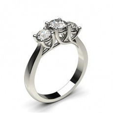 4 Prong Setting Plain Three stone Ring - CLRN604_01