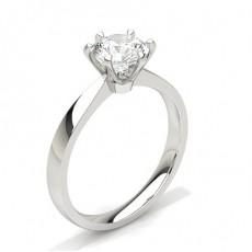 6 Prong Setting Plain Engagement Ring - CLRN640_01