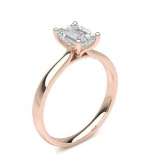 Emerald Rose Gold Classic Solitaire Engagement Rings
