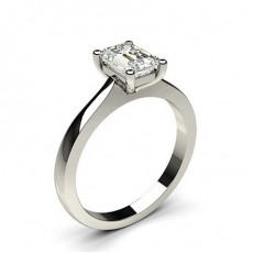 4 Prong Setting Plain Engagement Ring - CLRN651_01