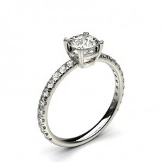 8 Prong Setting Side Stone Engagement Ring - CLRN668_01