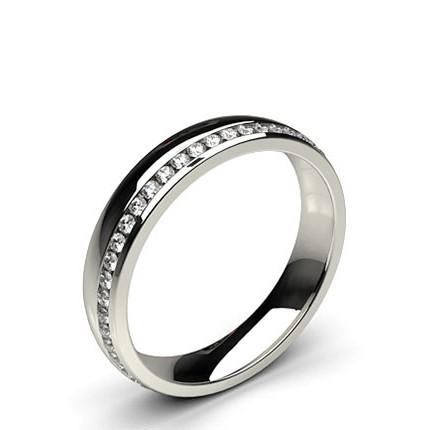Beschlagene Standard Fit Diamant Hochzeits Band