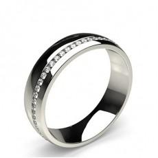 2.2mm Studded Flat Profile Diamond Shaped Band