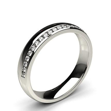 4.10mm Studded Comfort Fit Diamond Wedding Band