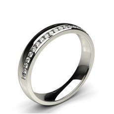 Studded Comfort Fit Diamond Wedding Band - HG0551_A62