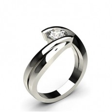 Channel Setting Round Diamond Engagement Ring - CLRN674_01