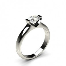 Bar Setting Oval Diamond Engagement Ring - CLRN675_01