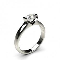 Bague de fiançailles solitaire diamant oval serti barette - CLRN675_01