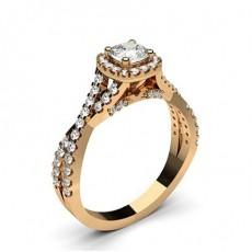 Kissen Rotgold Halo-Ringe