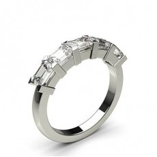 Emerald Anniversary Diamond Rings