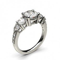 4 Prong Setting Five Stone Ring