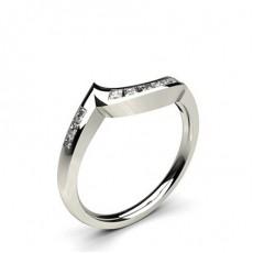 Kanaleinstellung Studded runde Diamantförmig Band