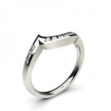 1.90mm Channel Setting Studded Round Diamond Shaped Band