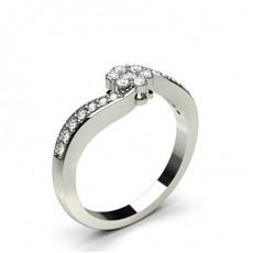 Round Diamond Promise Rings