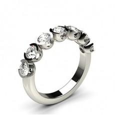 Rond Platine 7 Pierres Bague Diamant