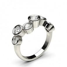 Round Platinum 7 Stone Diamond Rings