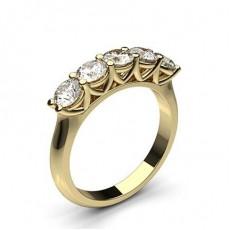 Brilliant Gelbgold 5 Diamanten