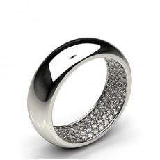 6.00mm Studded Inner Diamond Set Wedding Band  - CLRN727_01