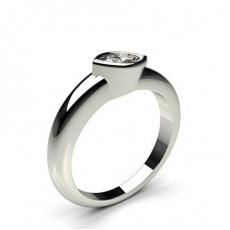 Full Bezel Setting Plain Engagement Ring - CLRN728_01