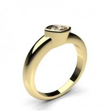 Bague de fianç ailles solitaire diamant marquise serti clos - CLRN728_01