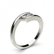 Channel Setting Plain Engagement Ring - CLRN730_01