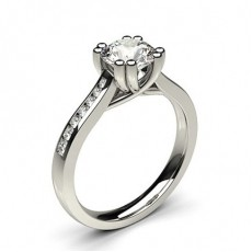 Double Prong Setting Side Stone Engagement Ring - CLRN763_01