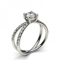 White Gold Diamond Engagement Ring - CLRN766_01