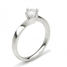 Princess Classic Solitaire Engagement Rings