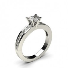 5 Prong Setting Side Stone Engagement Ring - CLRN786_01
