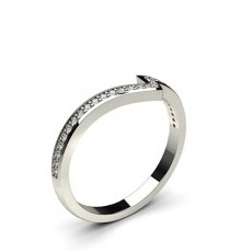 2.00mm Studded Diamond Slight Dome Profile Shaped Band - CLRN789_01