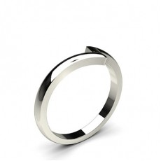 2.00mm Slight Comfort Fit Plain Shaped Wedding Band - CLRN789_02