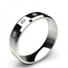 Five Stone Studded Diamond Wedding Band - CLRN792_01