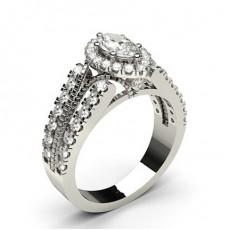 Multi Diamant Verlobungsring in einer Krappenfassung mit Schulter Diamanten - CLRN800_01