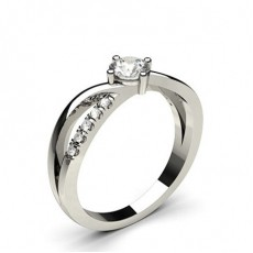 White Gold Diamond Engagement Ring - CLRN819_01