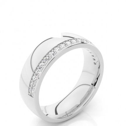 Pave Einstellung verzierte Diamantförmig Band